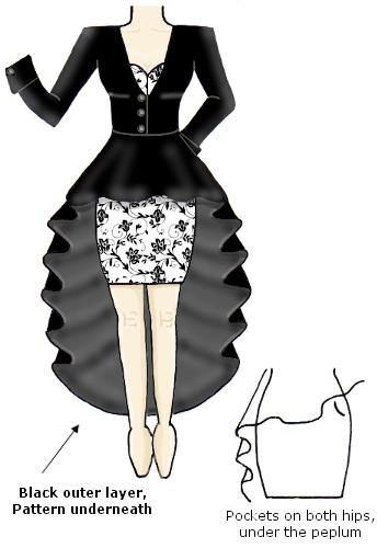Black White Contrast Floral Coat Dress
