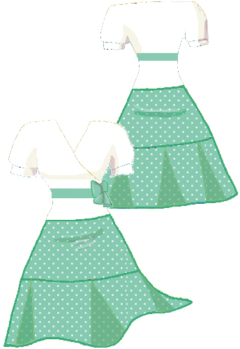 Mint Green Polka Dot Spot White Boho Knee Length Wrap Dress