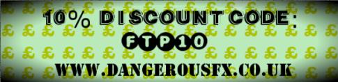 www.dangerousfx.co.uk 10% coupon