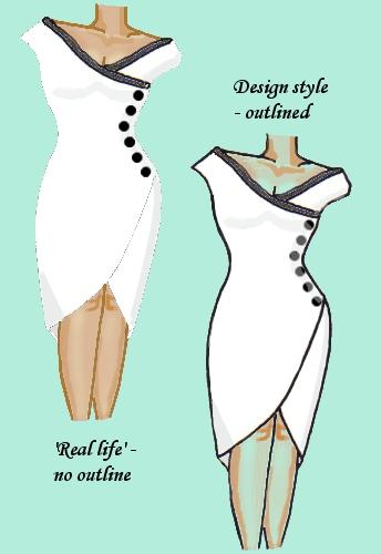 Wrap Lace Trim Dress White with Black
