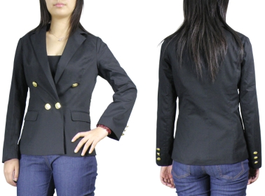 Chicstar-Black-Gold-Button-Nautical-Blazer