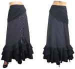 Stripe Pinstripe Gypsy Swag Lace Skirt