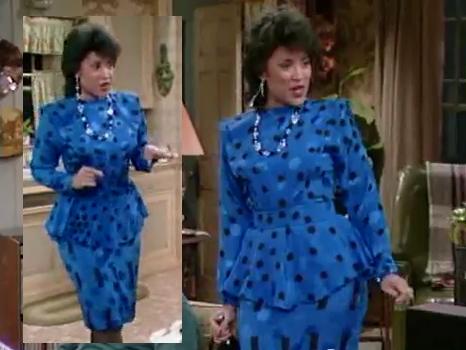 7_227_Sandra_Blue_Black_Polka_Dot_Spot_Peplum_Knee_Dress
