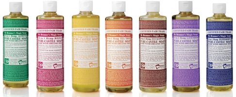 Dr Bronner Magic Castile Liquid 18 Soaps