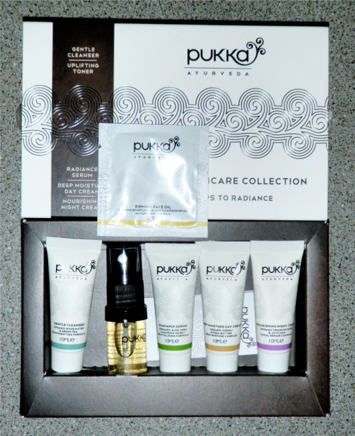 Pukka Ayurveda Organic Skincare Collection Gift Set Oil Serum Moisturiser Spray Toner Review