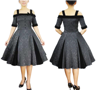 Black Jacquard Velvet Gothic Victorian Lolita Dress