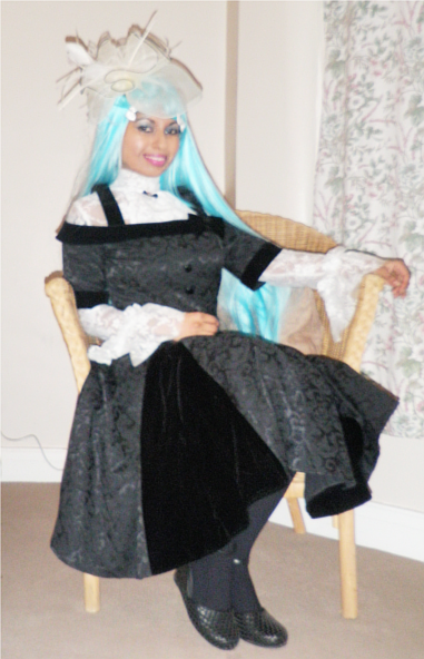 Black Jacquard Velvet Victorian Gothic Lolita Dress Lace Ruffle Shirt