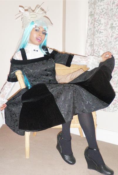Black Jacquard Velvet Victorian Gothic Lolita Dress Lace Ruffle Shirt 2