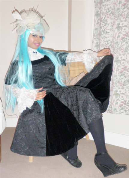 Black Jacquard Velvet Victorian Gothic Lolita Dress Lace Ruffle Shirt 3