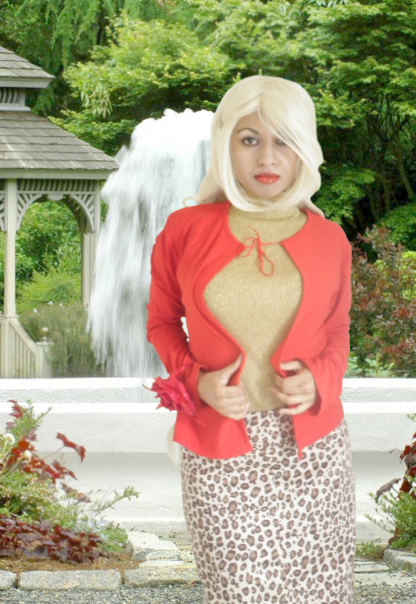 Red Gold Leopard Animal Print OOTD