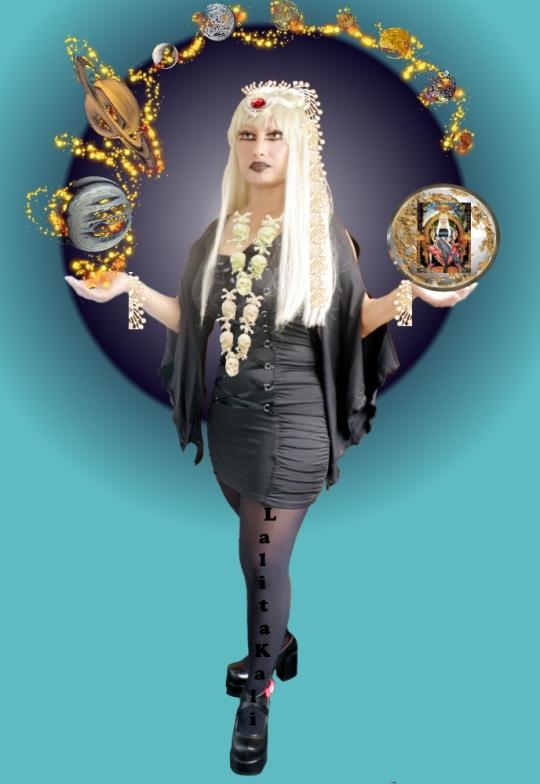 Goddess ISIS Lalita Kali Mahakali Apocalypse Black Dress