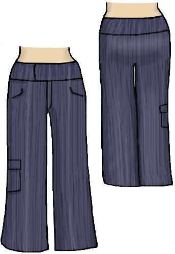 dapperdolly wide leg denim pocket cargo pants trousers
