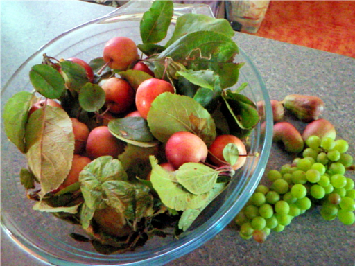 crab-apples-grapes-pears