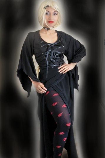 Black Goth Lady Death Outfit