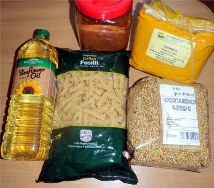 pasta-spinach-recipe ingredients
