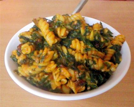 pasta-spinach-recipe
