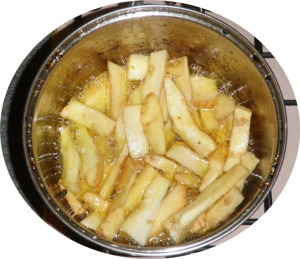Parsnip-Chips-Frying