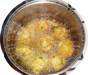 Frying-Pakoras-Bhajis-Cabbage-Parsnips