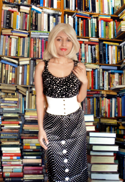 Black White Polka Dot Spot Vintage Retro Inspired Top Pinup Pencil Skirt Wide Belt