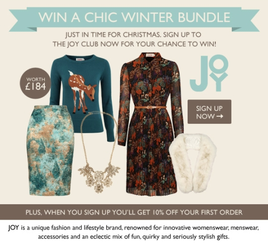 JOY Winter Fashion Competition Giveaway