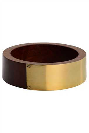 Wood Gold tone cuff/bangle from Next.