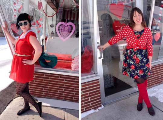These two are like poster ladies for Valentines! Don't they make you happy just looking at them!? I love the details and Happy Blogiversary to you both as well!
