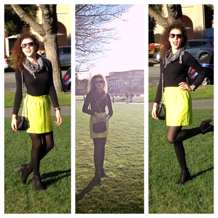 Another fashionista framing a gorgeous bright colour and highlighting it with Black - super stylish, bold and fun!