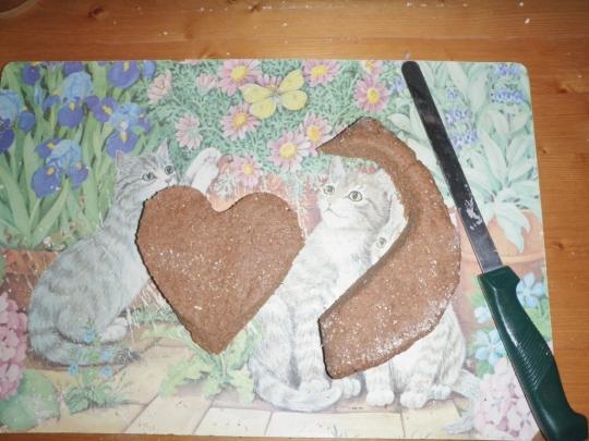 Sweet Coconut Fried Bread Shapes Dough Heart Valentine Making Romantic Love