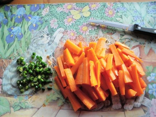 Carrots Green Chillies