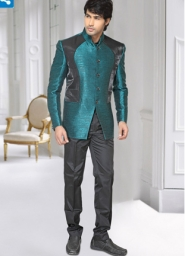 Teal-Black-Jodhpuri-Suit-utsav