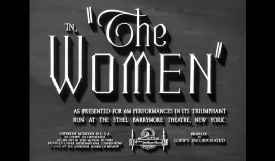 1 - The Women 1939 Film