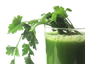 Green juice herb vegetable fasting glass drink