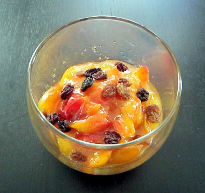 plum-trifle-base-fried-raisins-sultanas