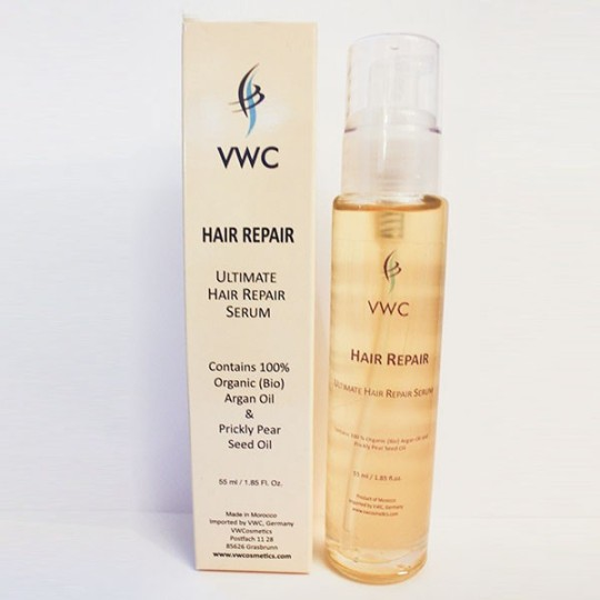 VWC Ultimate Hair Repair Serum Organic Argan Oil Prickly Pear Seed Sesame Oil, Coconut Oil, Corn, Olive, Aloe Vera Orange Blossom Essential Valerie Widmann Cosmetics Natural Vegan