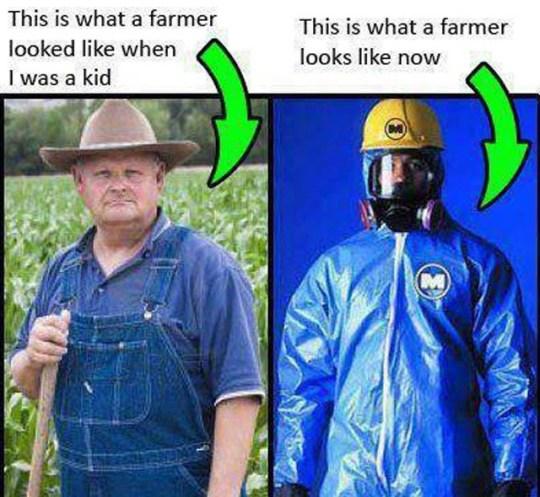 Organic Farmer GMO Hazmat Farmer