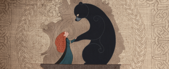 Brave Merida Daughter Elinor Dark Mother Bear Goddess Tapestry