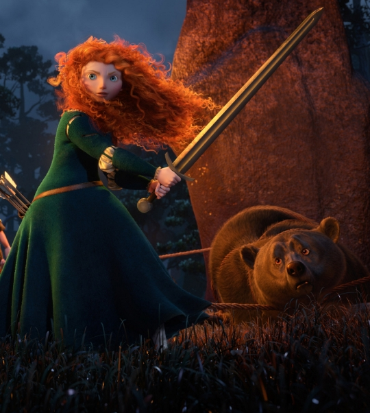 Brave Merida Daughter Elinor Dark Mother Bear Goddess