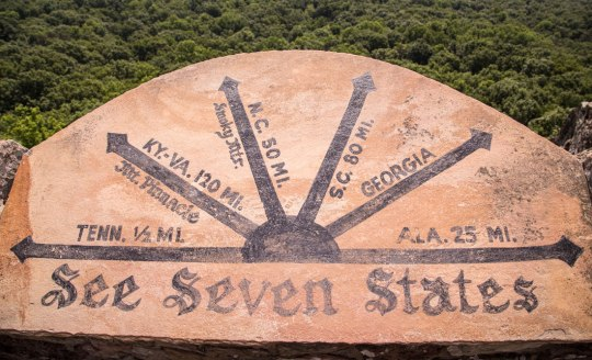 Rock City Chattanooga Lookout Mountain See Seven States Sign Review