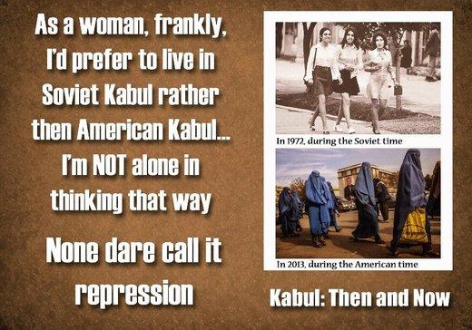 Kabul 1972 russian muslim women american occupation