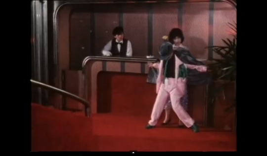 Lucky Seven 1986 pink teal suit
