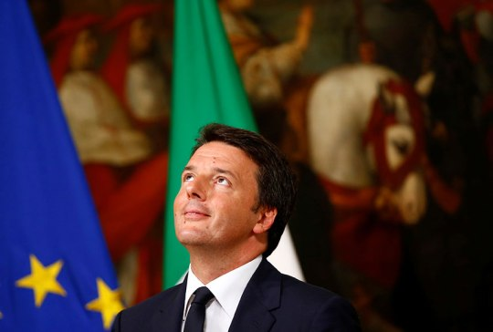CHANGE: Prime Minister Matteo Renzi, here at a June press conference, has promised to overhaul the justice system but faces serious opposition. REUTERS/Tony Gentile [LOL what a ridiculous photo]