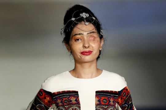 Reshma Quereshi Acid Attack Survivor Fashion Runway Strong Message Victims