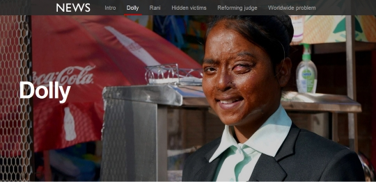 Dolly Acid Attack Victim Survivor Sheroes