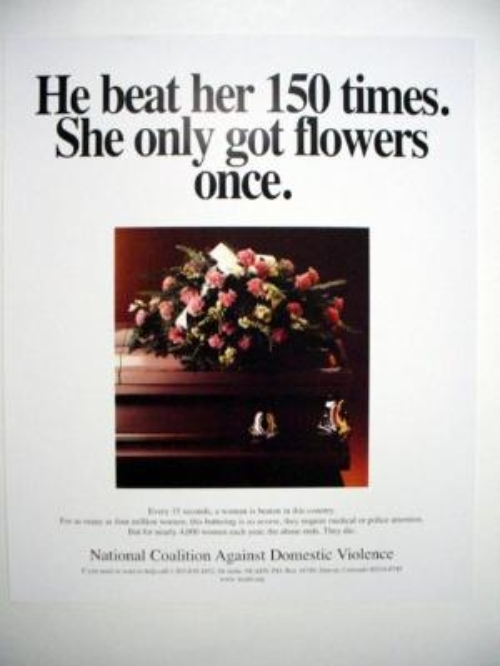 He Beat Her 150 Times She Got Flowers Once Campaign Domestic Abuse