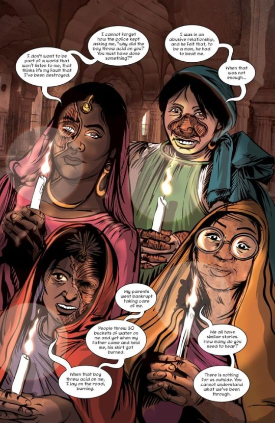 Priya's Shakti Mirror Acid Attack Rape Victims Survivors Comic Book