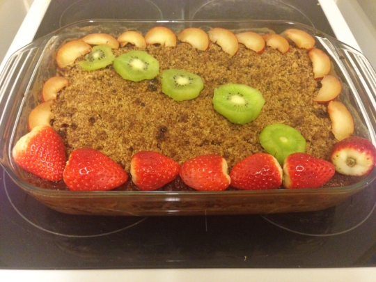 apple pear fruit crumble cake recipe vegan