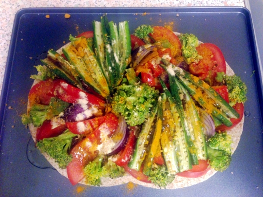 Vegetable Vegan Pizza Healthy