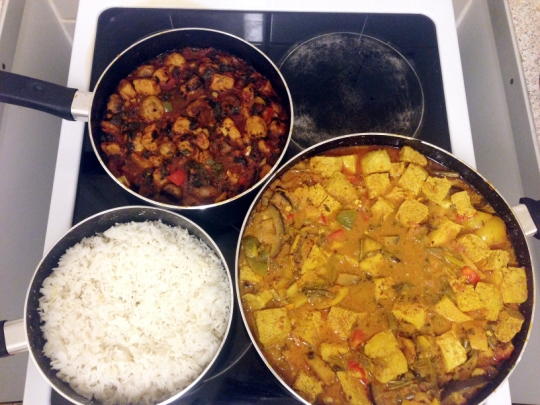 Rice tofu curry Quorn