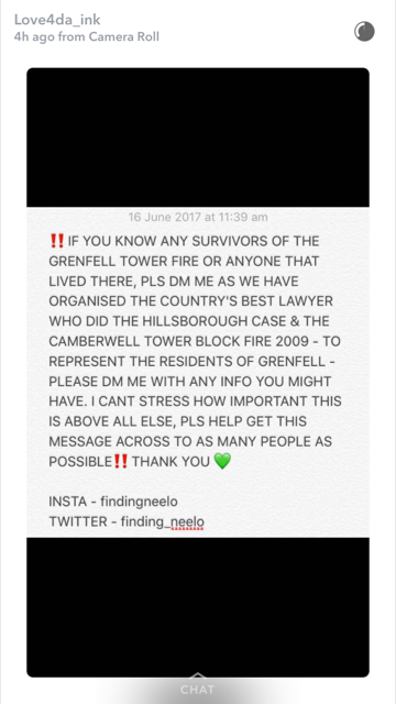 Call for info for Grenfell Tower Survivors findingneelo