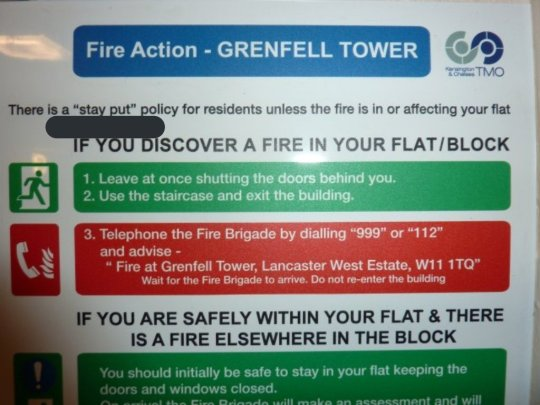 Grenfell Tower London Latimer Road Notting Hill Fire Policy Kensington and Chelsea Tenant Management Organisation